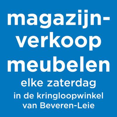 Magazijnverkoop in de kringloopwinkel van Beveren-Leie